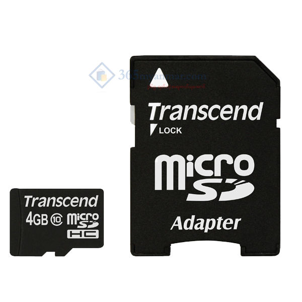 Transcend Micro SD Class 4 (4GB) (with Adapter)