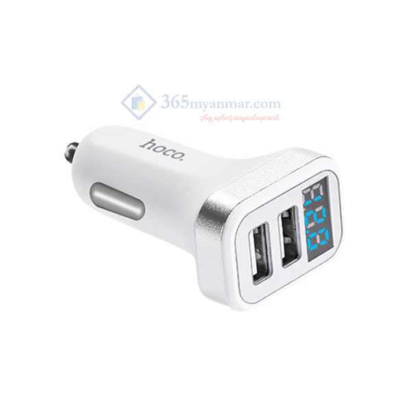 Hoco Z3 2 USB Digital Display Car Charger