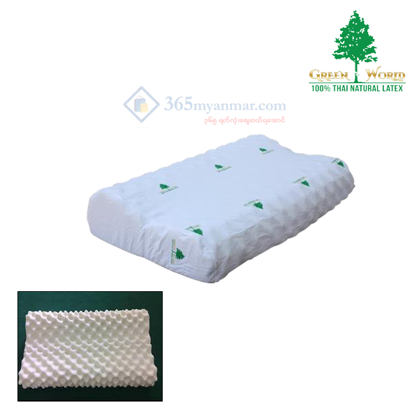 Green World Contour Knobby, Pillow (Code - PCK)