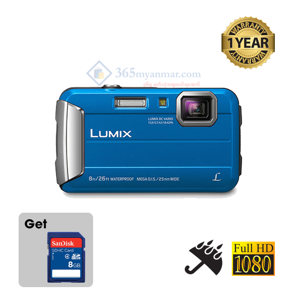 LUMIX Digital Camera DMC-FT30, Waterproof, Shock