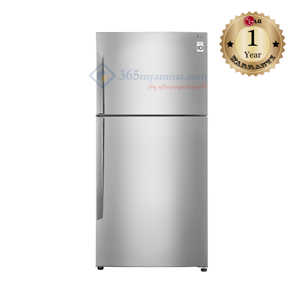 LG IEC Gross 515L PLATINUM SILVER TOP FREEZER (G