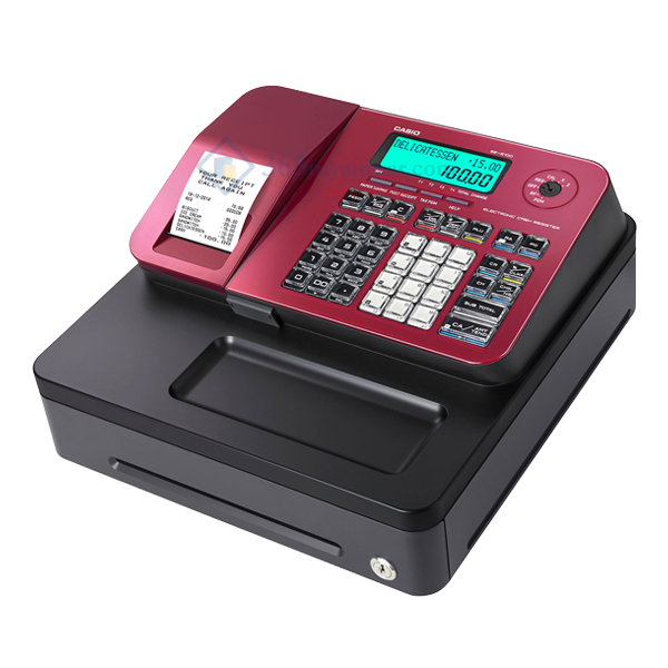 CASIO Cash Register SE-S100-S (Red)