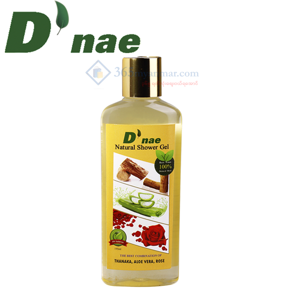 D'nae Natural Shower Gel (195ml) (Thanaka, Aloe