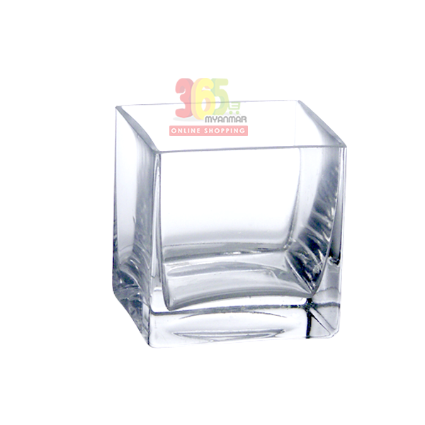 "Realon FP003 8""x8"" Glass Flower Pot"