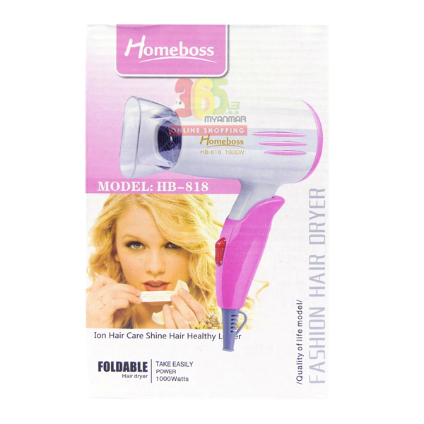 Homeboss Fashion Hair Dryer (HB-818)