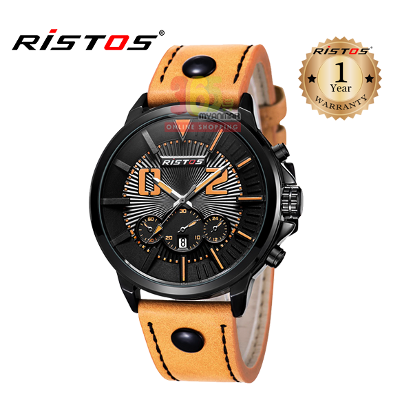 Ristos Leather Analog Watch For Men 93001 (Water