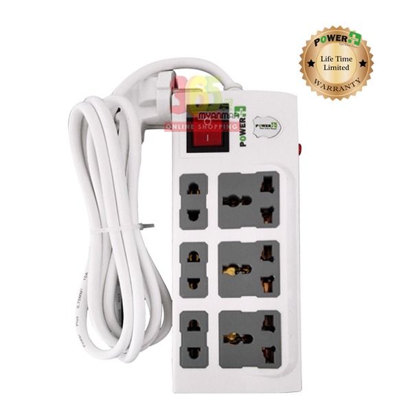 Power Plus Extension PP330I (3 Pin and 2 Pin / 6