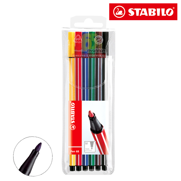 STABILO Color Pen 68, 6PCS Wallet 6806/PL