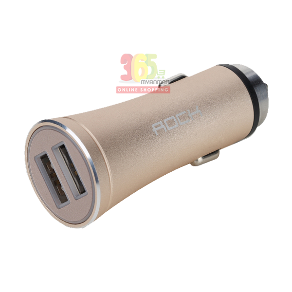 ROCK Space H1 CAR CHARGER WITH HAMMER 2.4A (3642