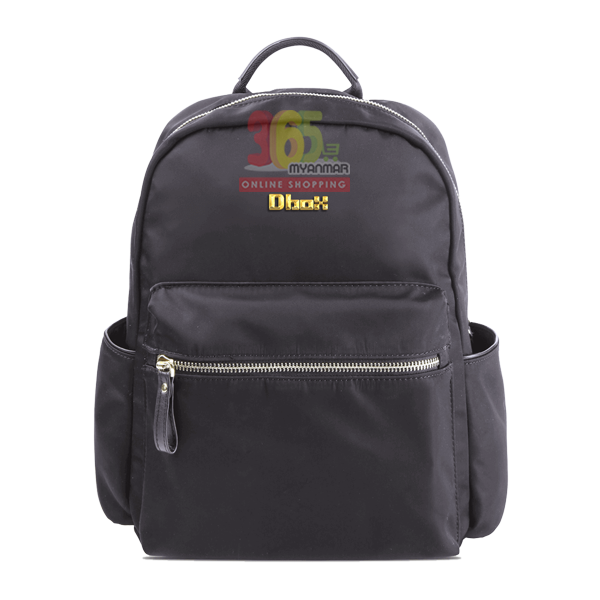 D Box Simple Fashion Backpack (Black)