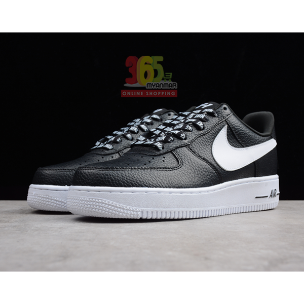 Nike Men's Air Force 1 AF1 Sneakers Black white