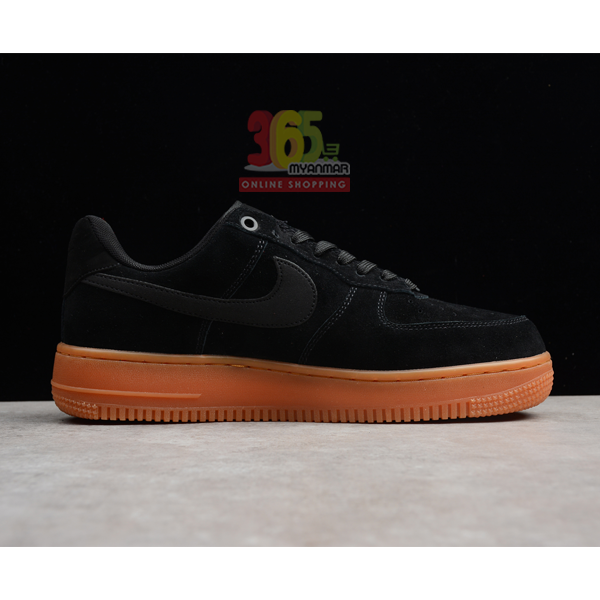 NIKE Men's Air Force 1 AF1 Sneakers black with b