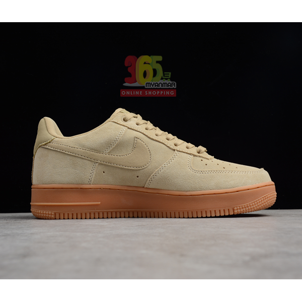 NIKE Men's Air Force 1 AF1 Sneakers Brown Shoe (