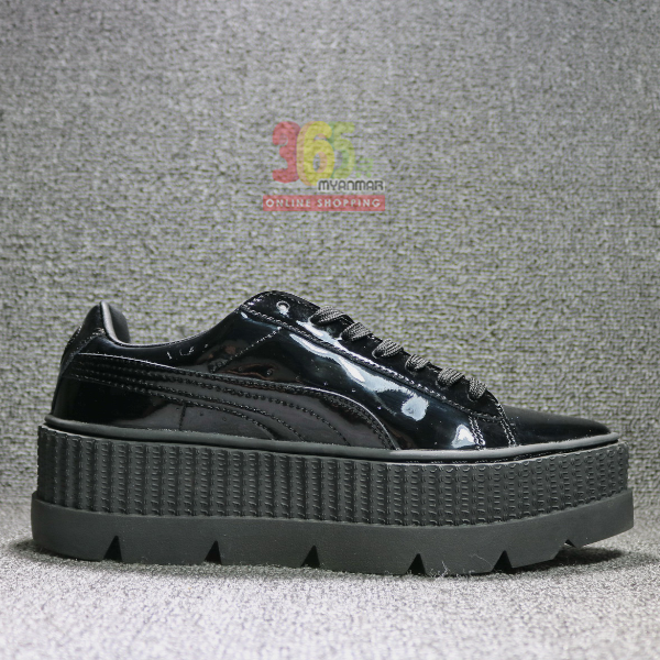 Puma Rihanna Sneaker (full black with thick sole