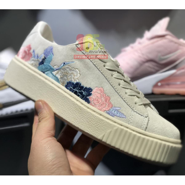 Puma Rihanna Sneaker (grey with flower pattern)