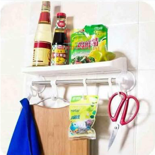 SP Plastic Kitchen Accessories Stand နံရံကပ္မီးဖ