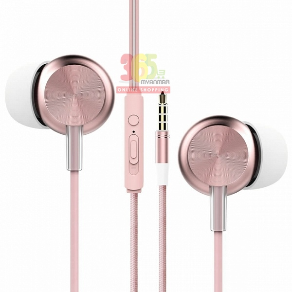 Rock Space Y2 stereo earphone (RAU0527)(Rose gol