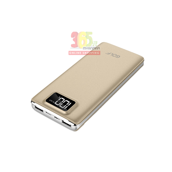 Golf powerbank LCD120 (12000 mAh) Gold