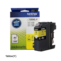Brother LC-535XL-Y Yellow Ink Cartridge
