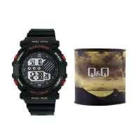 Q&Q Men Black Digital Watch M136J001Y