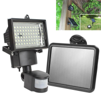 60 LED PIR Security Light and Solar Panel