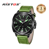Ristos Leather Analog Watch For Men 93003 (Water