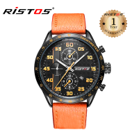 Ristos Leather Analog Watch For Men 93008 (Water