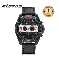 Ristos Leather Analog Watch For Men 93016 (Water