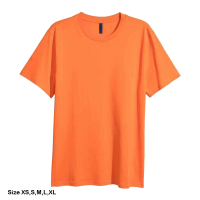 H&M Rounded-neck T-shirt for men (XS) (Orang