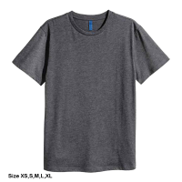H&M Rounded-neck T-shirt for men (XS) (Gray)