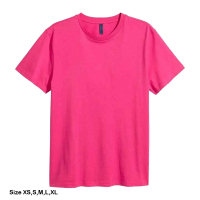 H&M Rounded-neck T-shirt for men (XS) (Pink)