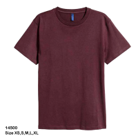 H&M Rounded-neck T-shirt for men (XS) (Brown