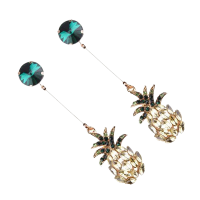 Nadaung Alloy Diamond Earrings (ND-ADE043) Green